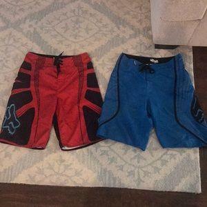 Men's fox swim trunks